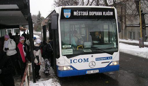 Jízdní řád MHD Vlašim po dobu dopravní uzavírky v Domašíně